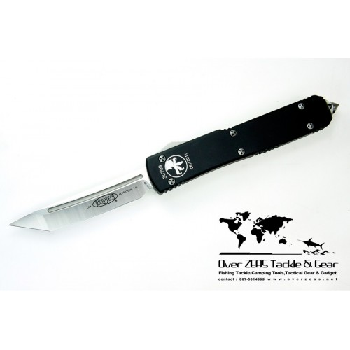 """มีดออโต้ Microtech Ultratech D/A OTF Tanto Automatic Knife (3.44"""" Satin Plain) 123-4"""