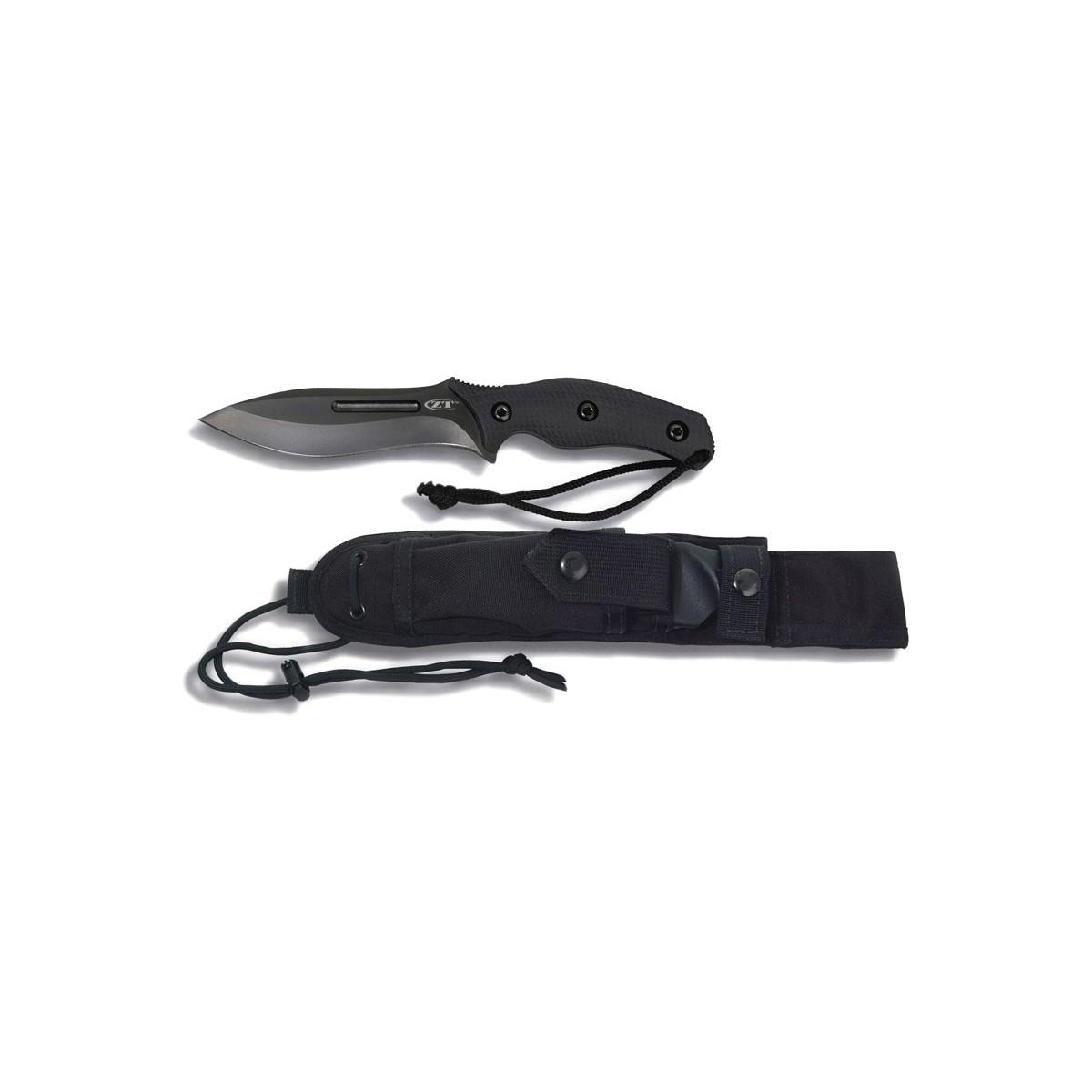 """มีดใบตาย Zero Tolerance Model 0100 Fixed 5-3/4"""" CPM3V Steel Blade, Black G10 Handles"""