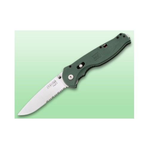 """มัดพับ SOG Flash II GFSA98 Folding Knife Assisted 3.5"""" Satin Combo Blade, Green Zytel Handles"""