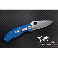 """มีดพับ Spyderco Tenacious Folding Knife Blue G-10 (3.375"""" Satin Plain) C122GPBL"""