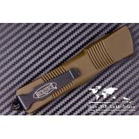 """มีดออโต้ Microtech OD Green Troodon D/E OTF Automatic Knife (3"""" Black Full Serr) 138-3GR"""