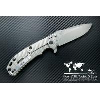 """มีดพับ Zero Tolerance (ZT) 0560 Folding Knife 3.75"""" ELMAX Stonewash Blade, Black G10 and Titanium Handles"""