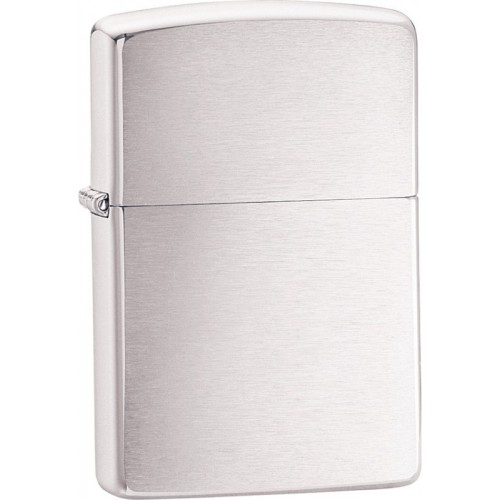 ไฟแชค Zippo 200 REG Brushed Chrome 10003 (Original 100%)