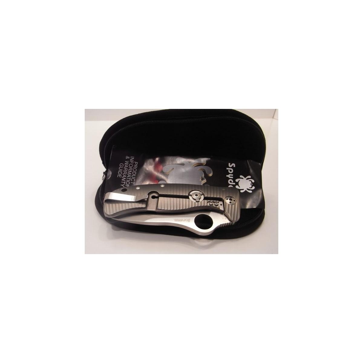 มีดพับ Spyderco Lionspy C157GTIP Gianni Pauletta, Elmax Steel, G-10&Titanium Handle, PlainEdge