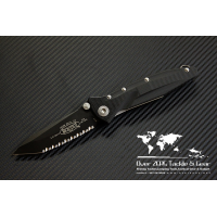 "มีดพับ Microtech Socom Delta Tanto Folding Knife G-10 (4"" Black Full Serr) 163-3"