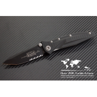 "มีดพับ Microtech Socom Delta Tanto Folding Knife G-10 (4"" Black Partial Serr) 163-2"