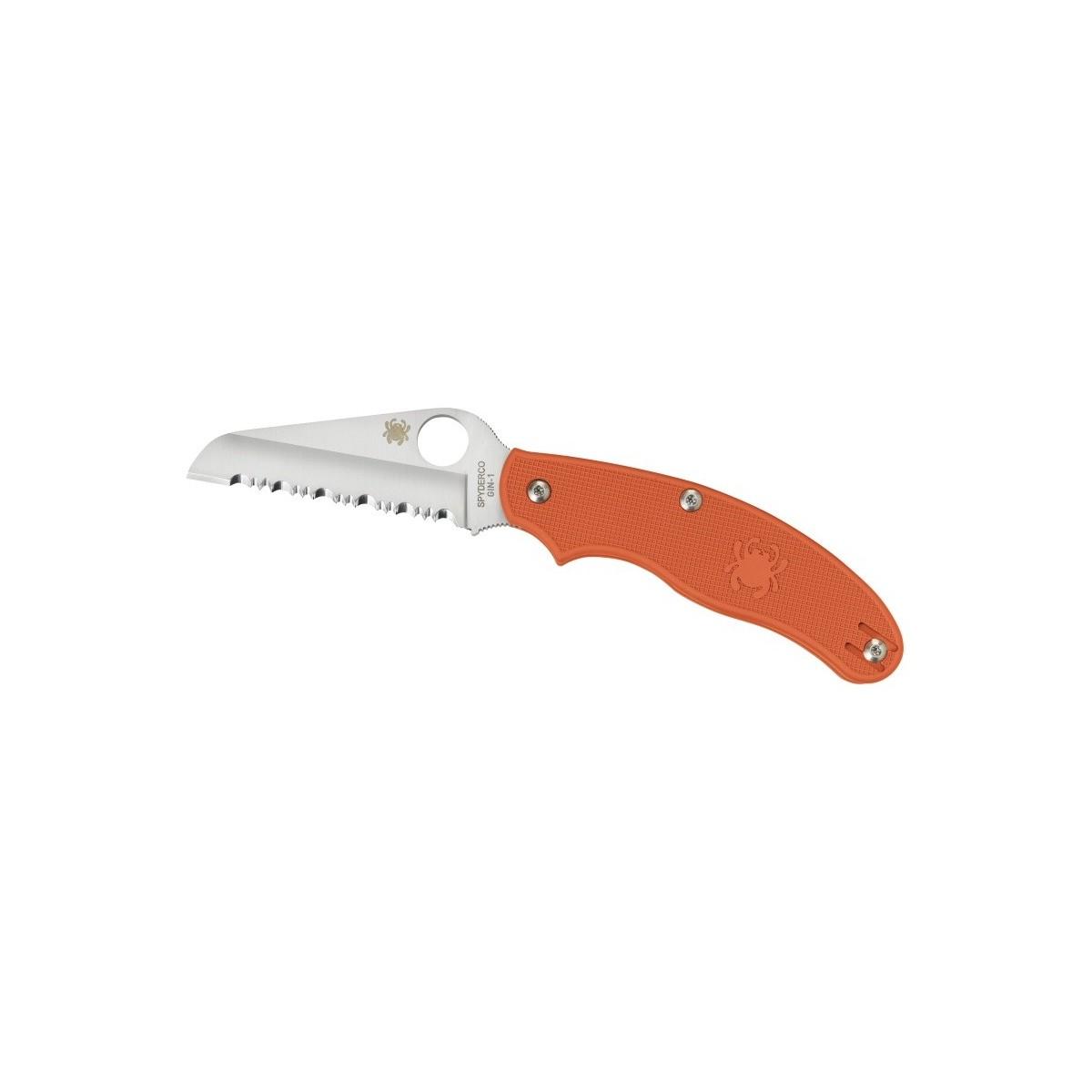 มีดพับ Spyderco C94SOR2 UK Penknife Rescue, Orange FRN, Sheepsfoot SpyderEdge