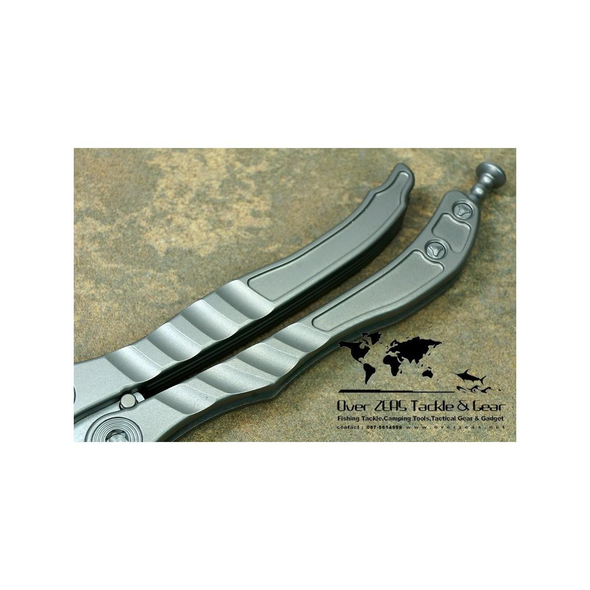 """มีดบาลิซอง Microtech Metalmark Balisong Butterfly Knife (3.875"""" Stonewash Plain) 170-10"""