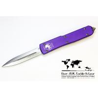 มีดออโต้ Microtech Ultratech Purple D/E Plain Stonewash 122-10PU