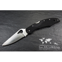 "มีดพับ Spyderco Byrd Cara Cara2 Folding Knife 3-3/4"" Plain Flat-Ground Blade, G10 Handles,BY03GP2"