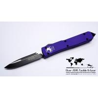 """มีดออโต้ Microtech Ultratech Purple OTF S/E Automatic Knife (3.4"""" Black Plain) 121-1PU"""