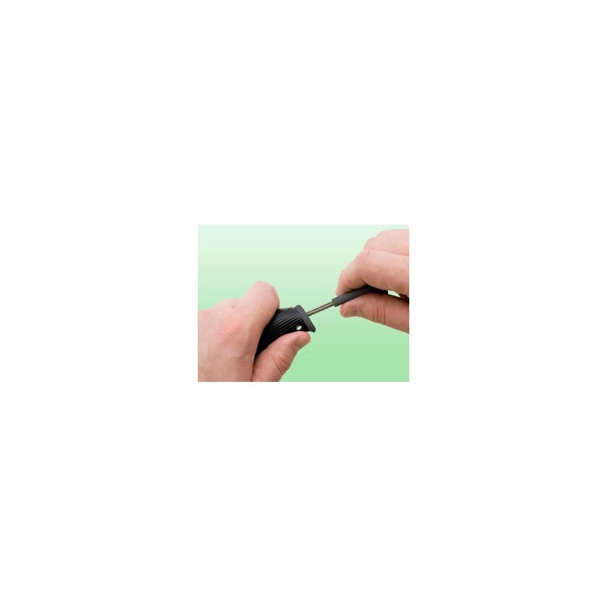 มีดใบตาย SOG Aura Camping Knife Fixed Blade w/ Nylon Sheath (Satin PLN) AU-01
