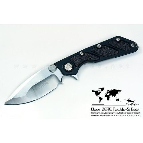 "มีดพับ Microtech DOC Flipper Knife Aluminum Folder (3.75"" Satin Plain) 153-4"