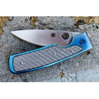 """มีดพับ Spyderco Centofante Memory Folding Knife 3"""" VG10 Blade, Blue Titanium with Glass Fiber Insert Handles,C155TIP"""