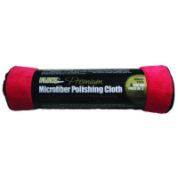 ผ้าไมโครไฟเบอร์ซุปเปอร์พรีเมี่ยมเกรด แพคประหยัด Flitz 4 Pk Microfiber Polishing Cloths Red/Black,MC16164