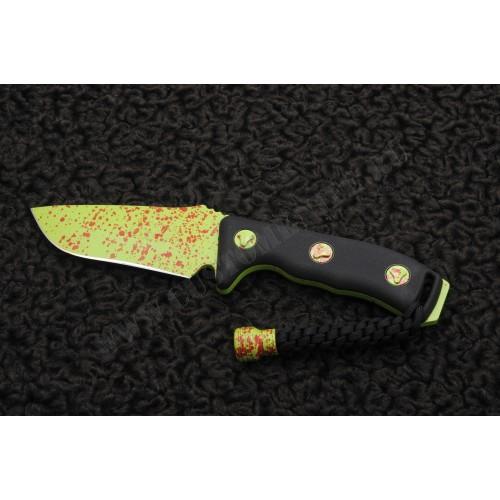 มีดใบตาย Microtech Currahee SE, Zombie Green Handle, PlainEdge,Limited,102-1Z