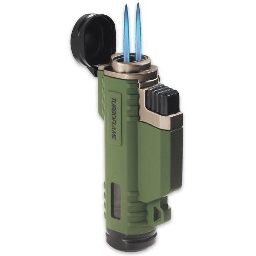 ไฟแชคแก๊ส ชนิดหัวพ่น Proforce Turboflame Ranger Windproof Lighter, Olive,21090