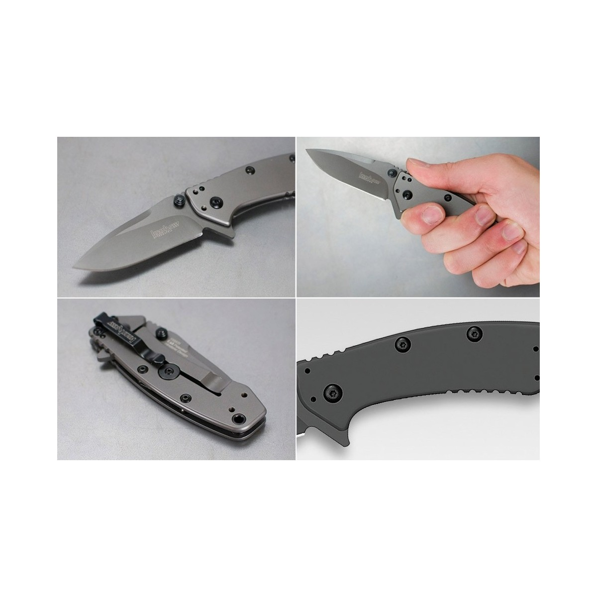 "มีดพับ Kershaw Cryo Assisted 2-3/4"" Plain Blade, Rick Hinderer Framelock Design,1555Ti"