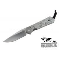 """มีดพับ Chris Reeve Large Sebenza 21 Knife CGG Elk Mountain (3.625"""" Plain)"""