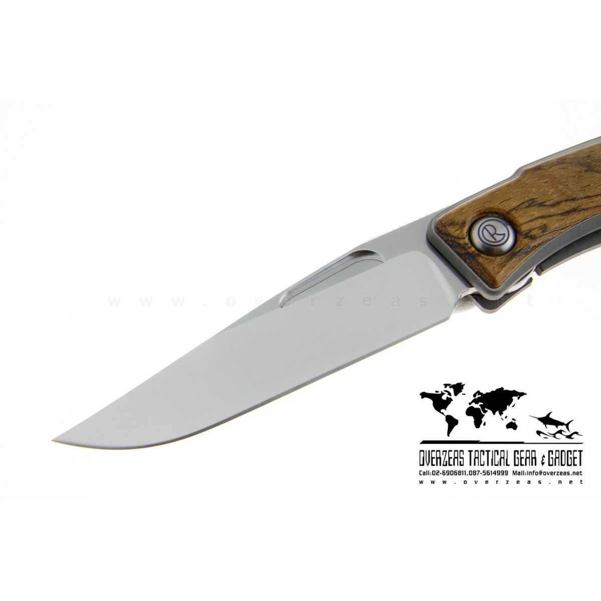 """มีดพับ Chris Reeve Mnandi Knife Bocote Wood Inserts (2.75"""" Satin Plain)"""