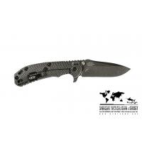 """มีดพับ ZT (Zero Tolerance) 0560BW Knife Hinderer Flipper (3.75"""" Black Stonewash Plain) ZT0560BW"""