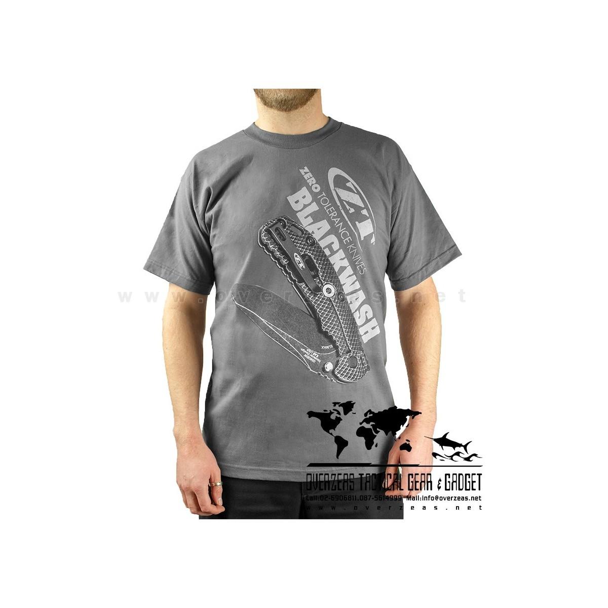 เสื้อยืด ZT Blackwash  (Zero Tolerance) 100% Cotton,Made in USA, ไซส์ M