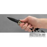 """มีดพับ Kershaw Emerson CQC-4K Frame Lock Knife Brown G-10 (3.25"""" Black) 6054BLK"""
