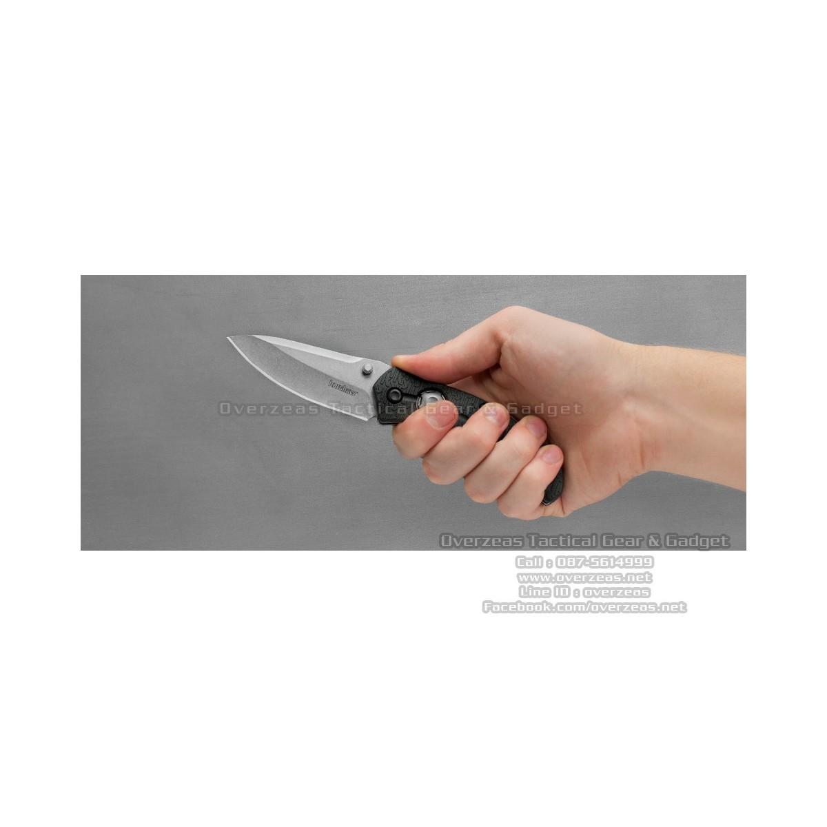 """มีดพับ Kershaw Thistle Liner Lock Knife Black GFN (3.5"""" Stonewash) 3812"""