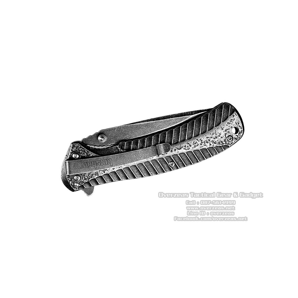 """มีดพับ Kershaw Starter Assisted Opening Flipper Knife (3.4"""" BlackWash) 1301BW"""