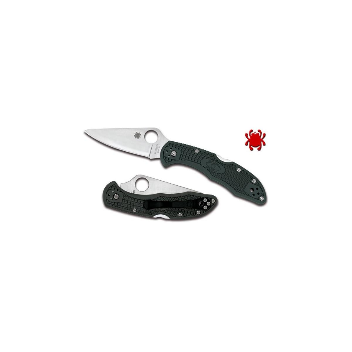 """มีดพับ Spyderco Delica 4 Knife Green FRN ZDP-189 Folder (2.88"""" Satin Plain) C11PGRE"""