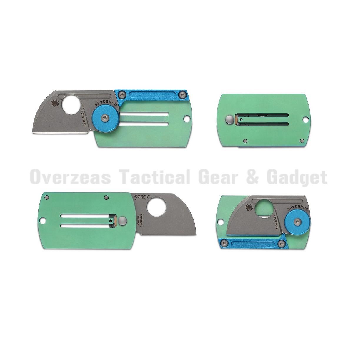 """มีดห้อยคอ Spyderco Panchenko Dog Tag Folder Slip Joint Knife (1.22"""" Bead Blast) C188ALTIP"""