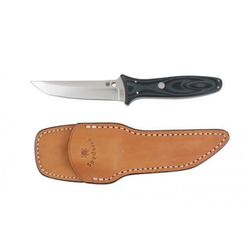 """มีดใบตาย Spyderco Lum Tanto Sprint Run Fixed Blade Knife (4.19"""" Satin) FB03GBKGRP"""