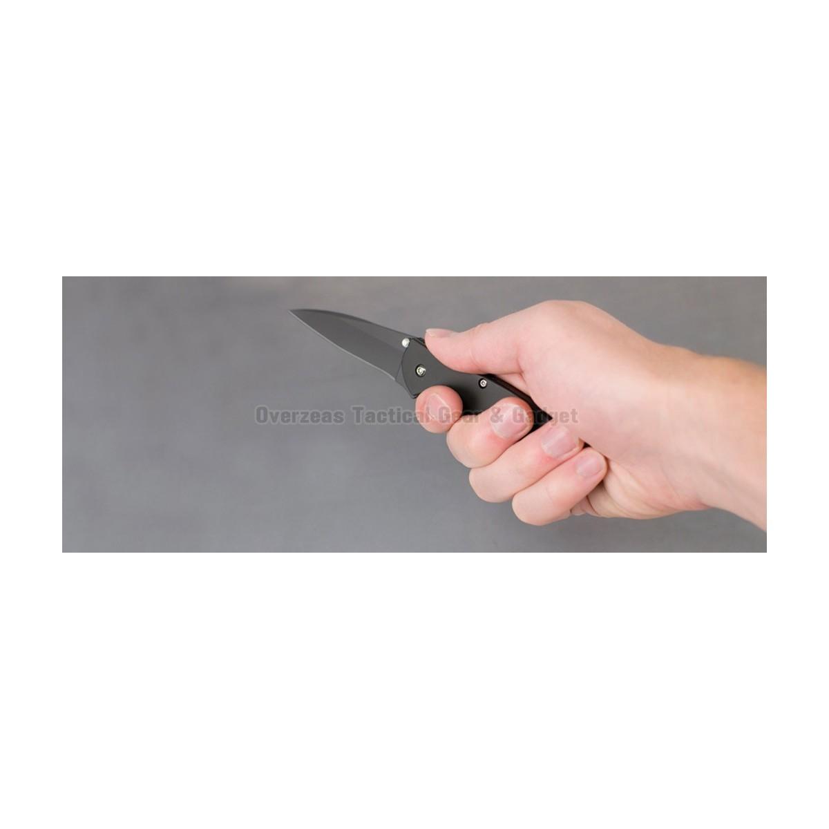 """มีดพับ Kershaw Leek Assisted Opening Knife (3"""" Black) 1660CKT"""