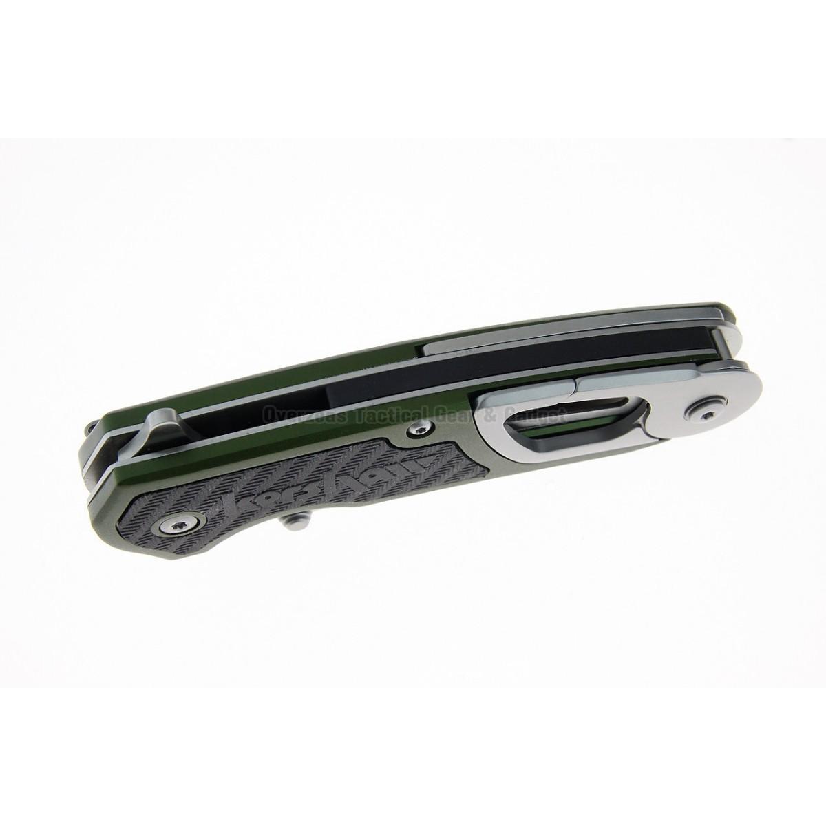 """มีดพับ Kershaw Funxion Outdoor Assisted Opening Knife Olive (3"""" Satin) 8000OL"""