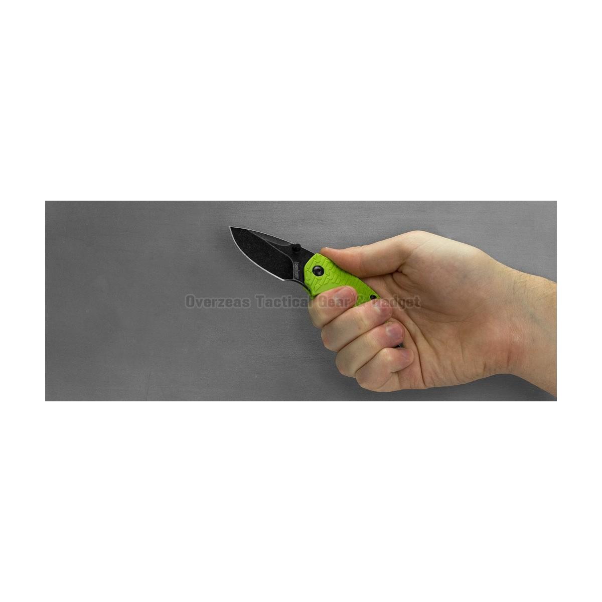 """มีดพับ Kershaw Shuffle Liner Lock Knife Lime (2.375"""" BlackWash) 8700LIMEBW"""