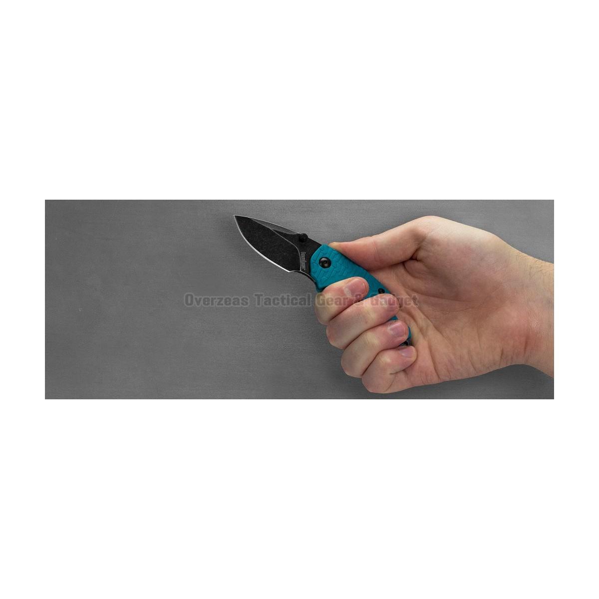 """มีดพับ Kershaw Shuffle Liner Lock Knife Teal (2.375"""" BlackWash) 8700TEALBW"""