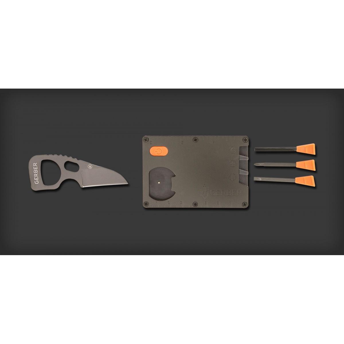 การ์ดมัลติทูล Gerber Bear Grylls Survival Card Tool (31-002601)