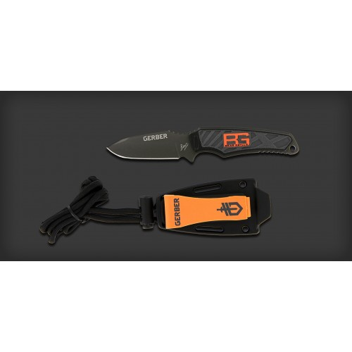 "มีดใบตาย มีดห้อยคอ Gerber Bear Grylls Ultra Compact Fixed Blade Survival Neck Knife (3.25"" Plain) 31-001516"