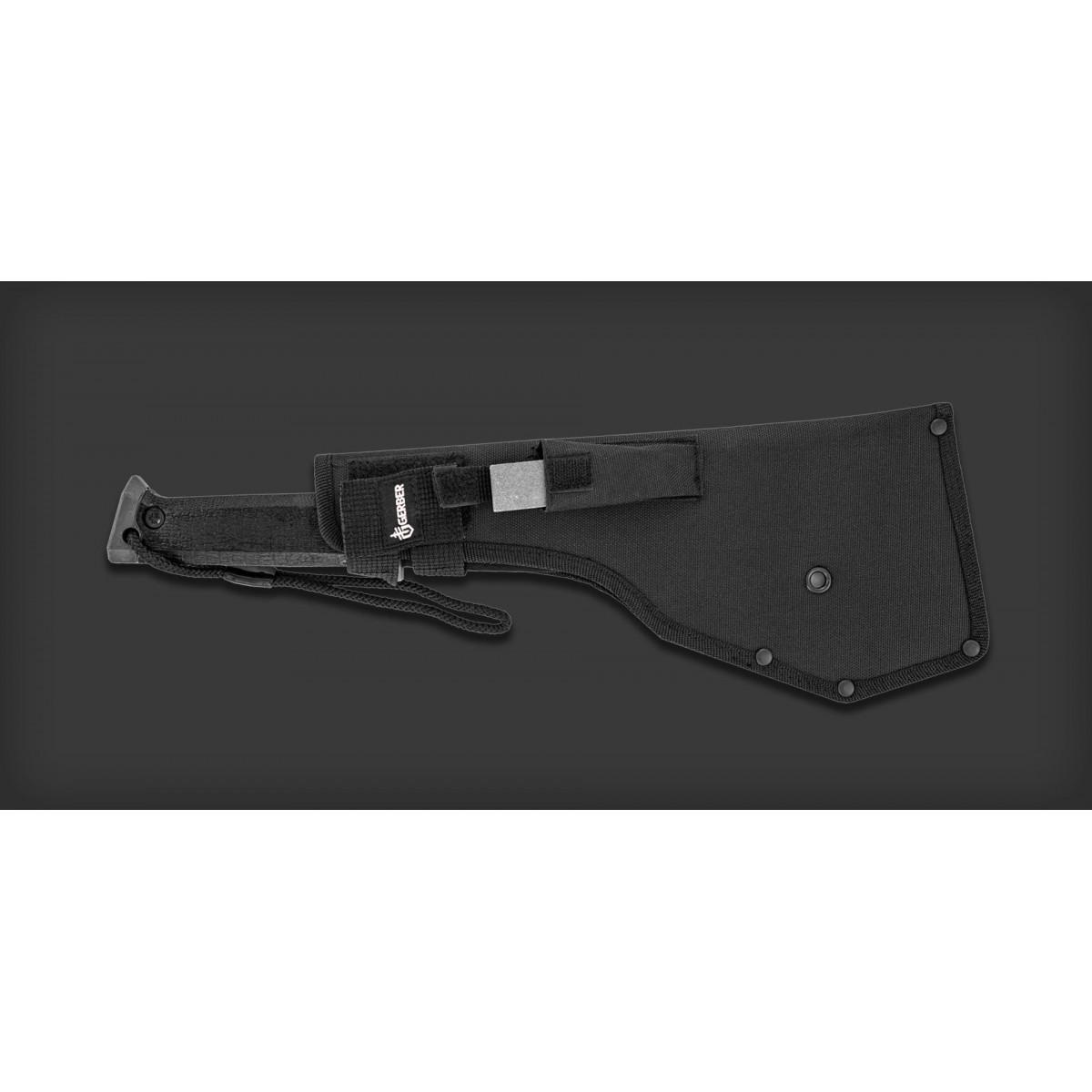 """มีดเดินป่า มีดใบตาย Gerber Gator Machete Pro Fixed Blade (10.5"""" Black Plain) w/ Sharpening Stone (31-000705)"""