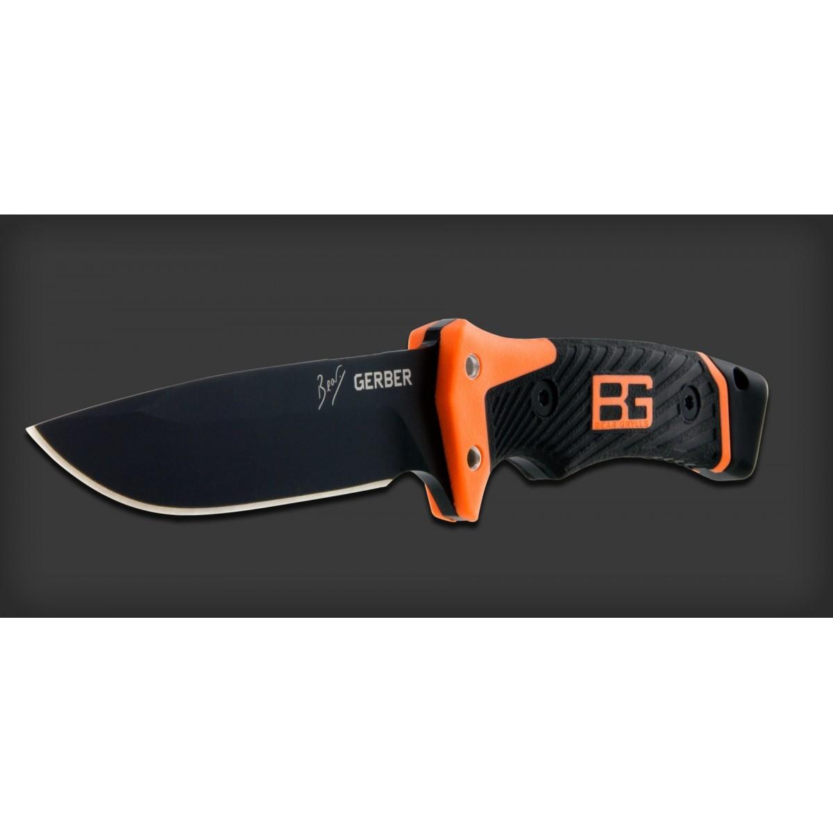 """มีดเดินป่า มีดใบตาย Gerber Bear Grylls Ultimate Pro Fixed Blade Survival Knife (4.8"""" Black) 31-001901"""