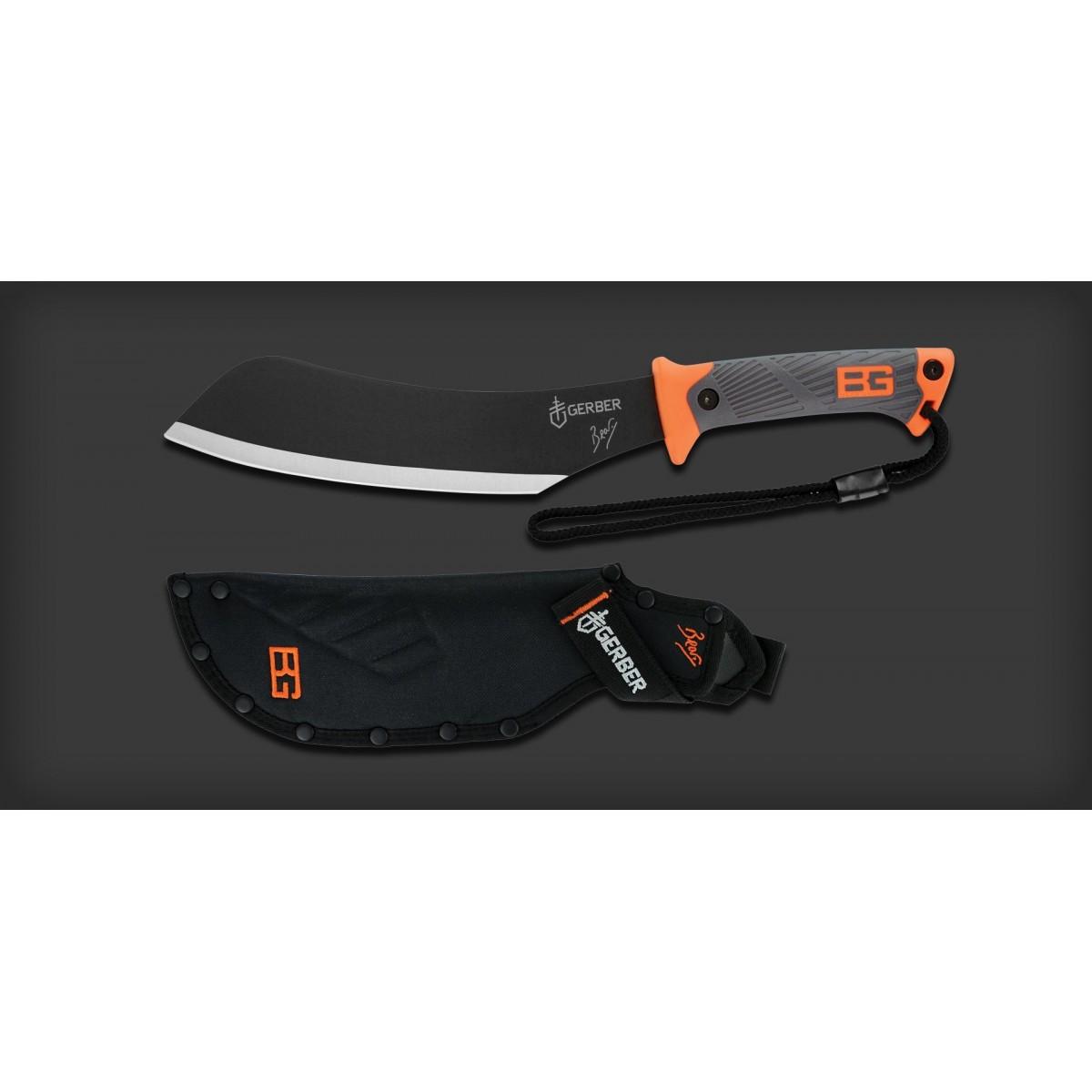 """มีดเดินป่า มีดใบตาย Gerber Bear Grylls Compact Parang Fixed Blade Survival Knife (9.34"""" Plain) 31-002072"""