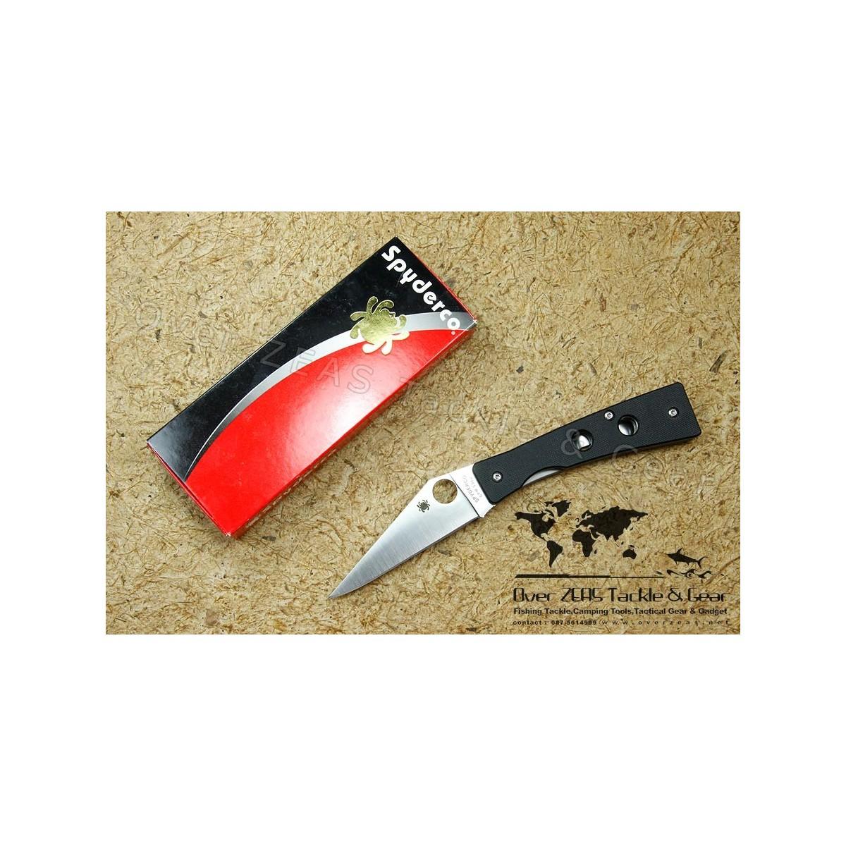 "Spyderco Chokwe Folding Knife 3.75"" S30V Blade, G10 Handles"