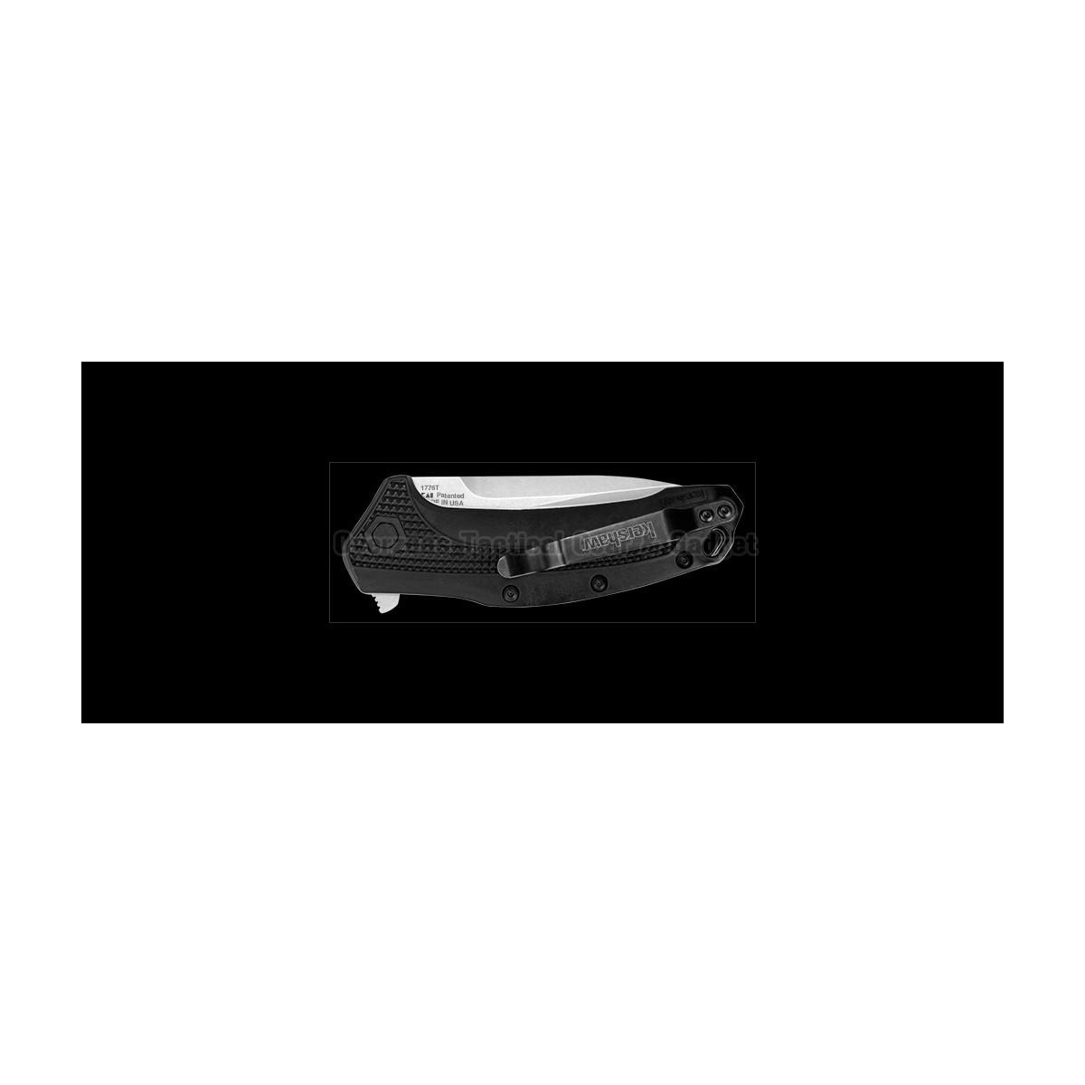 """มีดพับ Kershaw Link Tanto Knife Black GFN (3.25"""" Stonewash) 1776T"""