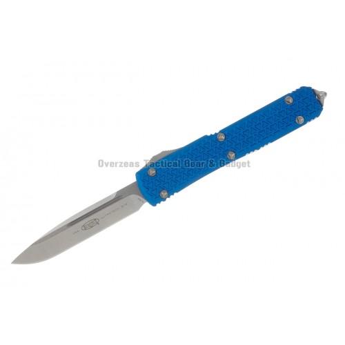 """มีดออโต้ Microtech Ultratech S/E OTF Automatic Knife Tri-Grip Blue (3.4"""" Stonewash) 121-10BL"""