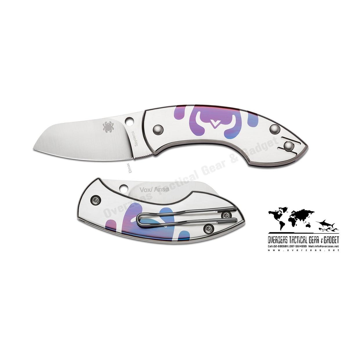 """มีดพับ Spyderco Pingo Slip-It Knife Titanium (2.35"""" Satin) C163TIP"""