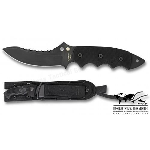 """มีดใบตาย Spyderco Pygmy Warrior Fixed Blade Knife (4.6"""" Black) FB29GPS"""