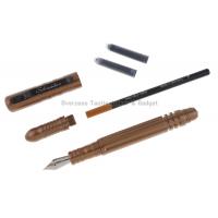 ปากกาแทคติคอล ต่อสู้ ป้องกันตัว Schrade Tactical Pen & Defense Tool - Brown (Fountain & Rolling Ball) SCPEN3BR