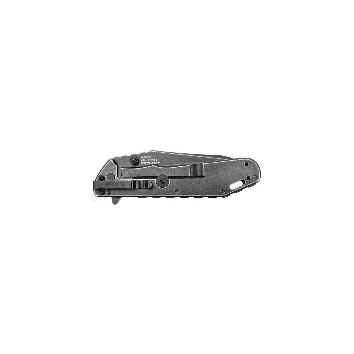 """มีดพับ Kershaw Thermite Flipper Assisted Opening Knife (3.5"""" Blackwash) 3880BW"""