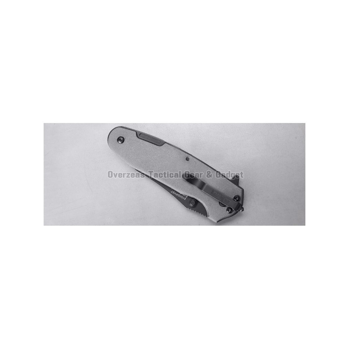 """มีดพับ Kershaw Funxion Lightweight Assisted Opening Knife (3"""" Black Serr) (8100)"""