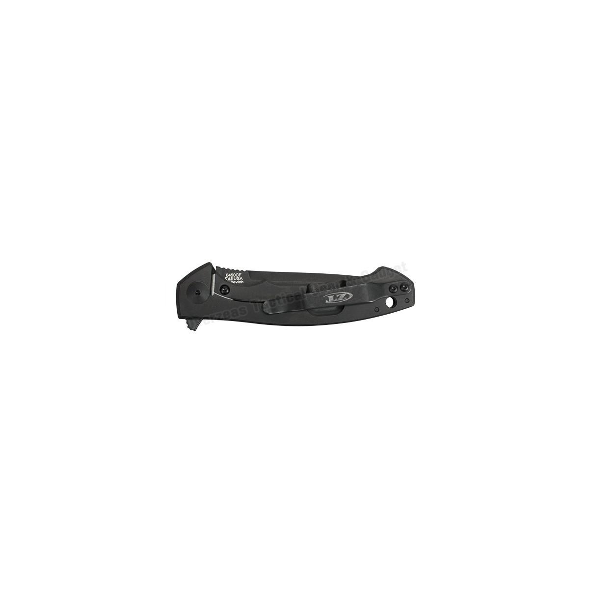 """มีดพับ Zero Tolerance 0450CF Flipper Knife Carbon Fiber (3.25"""" Black) ZT0450CF"""